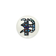 Stained Glass P2 Mini Button (100 pack)