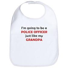Police Officer Like My Grandpa Bib