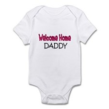 welcome home daddy pink acu Infant Bodysuit