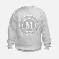 Gray | White Swirls Monogram Sweatshirt