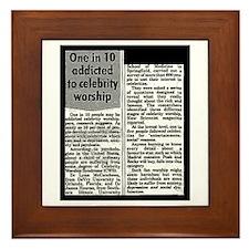 Celebrity Worship Framed Tile