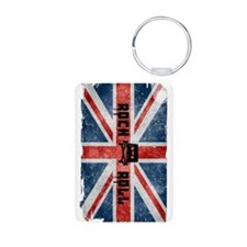 Rock Roll-British Flag Keychains