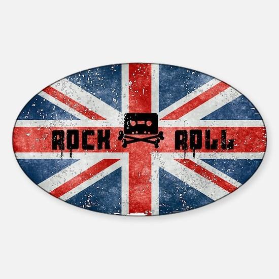 ROCK ROLL-BRITISH FLAG Decal