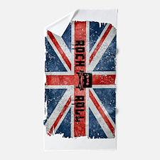 Rock Roll-British Flag Beach Towel