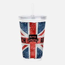 ROCK ROLL-BRITISH FLAG Acrylic Double-wall Tumbler