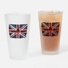 ROCK ROLL-BRITISH FLAG Drinking Glass