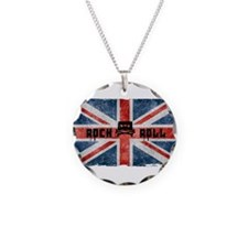 ROCK ROLL-BRITISH FLAG Necklace