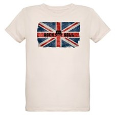 ROCK ROLL-BRITISH FLAG T-Shirt