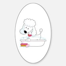 Poodle Bath Decal