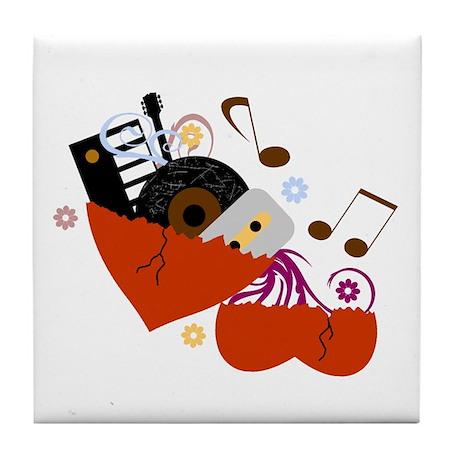 Music Heals The Soul Tile Coaster