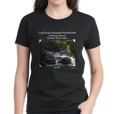 Smoky Mountain Stream Women's Dark T-Shirt