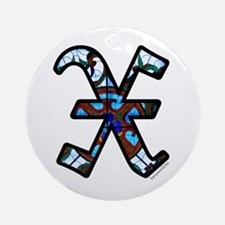 Stained Glass X2 Ornament (Round)