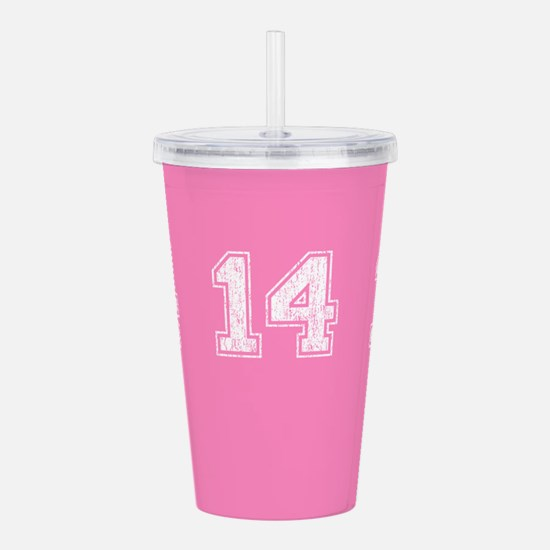 Retro 14 Pink Acrylic Double-wall Tumbler