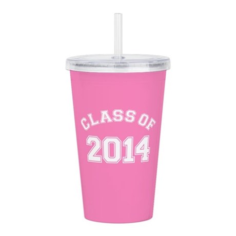 Class Of 2014 Pink Acrylic Double-wall Tumbler