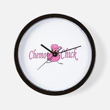 Chemo Chick Chemotherapy Wall Clock