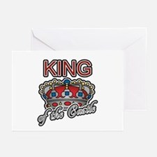 Father's Day King of the Castle Greeting Cards (Pa