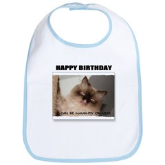 HAPPY BIRTHDAY (NAUGHTY CAT LOOK) Bib