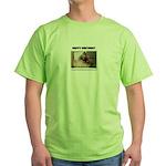 HAPPY BIRTHDAY (NAUGHTY CAT LOOK) Green T-Shirt