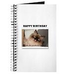 HAPPY BIRTHDAY (NAUGHTY CAT LOOK) Journal
