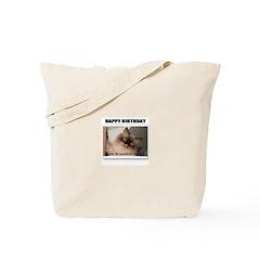 HAPPY BIRTHDAY (NAUGHTY CAT LOOK) Tote Bag