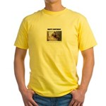 HAPPY BIRTHDAY (NAUGHTY CAT LOOK) Yellow T-Shirt