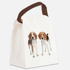 Two Beagle Dogs Canvas Lunch Bag
