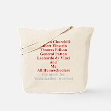 Famous Homeschoolers Tote Bag