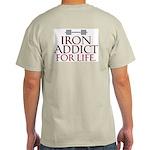 IRON ADDICT! Ash Grey T-Shirt