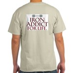 IRON ADDICT! Ash Grey T-Shirt