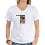 Fill the Emptiness Women's V-Neck T-Shirt