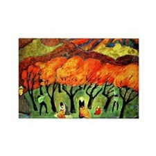 Fruit Harvest in a Mountain Orcha Rectangle Magnet