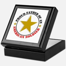 """Proud Father Of An American Soldier"" Keepsake Box"