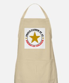 """""""Proud Father Of An American Soldier"""" BBQ Apron"""