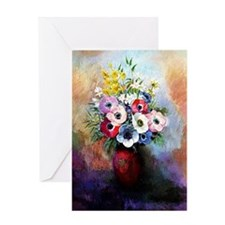 Anemones - Odilon Redon Greeting Card
