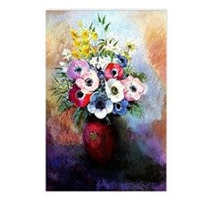 Anemones - Odilon Redon Postcards (Package of 8)