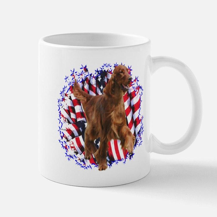Irish Setter Patriotic Mug