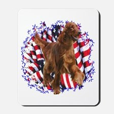 Irish Setter Patriotic Mousepad
