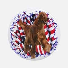 Irish Setter Patriotic Ornament (Round)