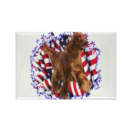 Irish Setter Patriotic Rectangle Magnet