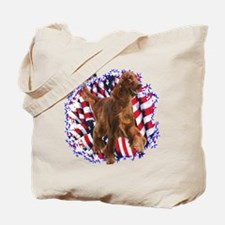 Irish Setter Patriotic Tote Bag