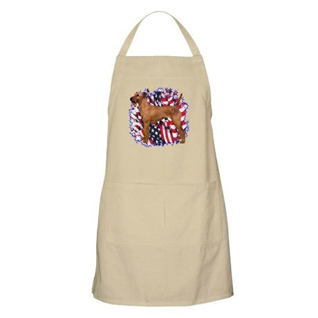 Irish Terrier Patriotic BBQ Apron