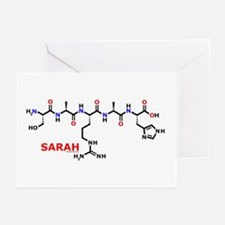 Sarah name molecule Greeting Cards (Pk of 10)