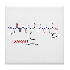 Sarah name molecule Tile Coaster