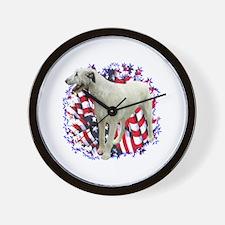Irish Wolfhound Patriotic Wall Clock
