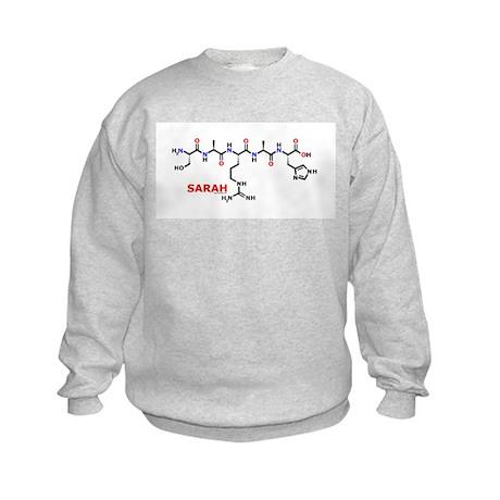 Sarah name molecule Kids Sweatshirt