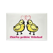 Chicks gettin' Hitched Rectangle Magnet