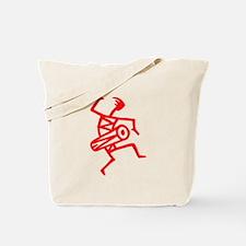 Drumming Petroglyph Tote Bag