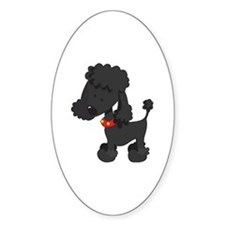 Poodle Black Decal