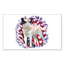 """Lab """"YLW"""" Patriotic Rectangle Decal"""