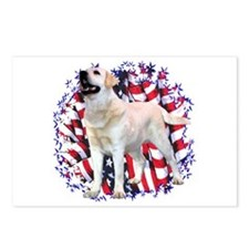 "Lab ""YLW"" Patriotic Postcards (Package of 8)"